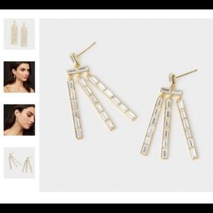 Gorjana New Desi Crystal dangle earrings